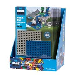 12 pc Baseplate Duo in Display - Gray & Blue