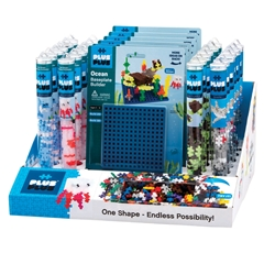 36 pc Tube & Baseplate Display Program - Ocean