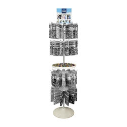Tube Floor Display (only) - 4-Tier